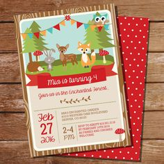 Enchanted Woodland Party Invitation - Enchanted Forest Invitation - Instant Download and Edit File at home with Adobe Reader