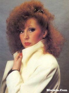 Alla Pugacheva, russian singer, 1980's  hair banana clip алла пугачева
