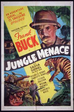 JUNGLE MENACE Movie Poster (R-1949) || DOCUMENTARY Movie Posters @ FilmPosters.Com - Vintage Movie Posters and More