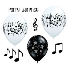 Music Notes Balloons Musician Orchestra Band Musical Notes Party Decoration Balloons