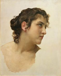 """Study of the Head of a Woman for """"Offering to Eros"""""""