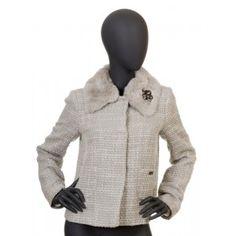 Liu Jo - szary żakiet w stylu Chanel