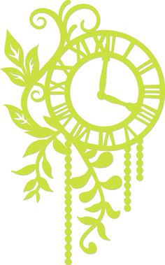 Decorative Die Foliage Clock