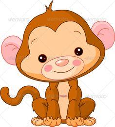 Illustration of cute Monkey Fun zoo. Illustration of cute Monkey Cartoon Monkey, Monkey Art, Pet Monkey, Cute Cartoon, Clipart Baby, Cute Clipart, Clipart Images, Monkey Illustration, Free Vector Illustration