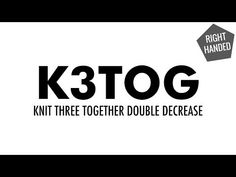 The Knit 3 Together Dec (K3Tog) :: Knitting :: New Stitch a Day