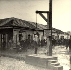 Kowel, Wolhyn, Poland, February 1942, An execution of a Jew by hanging.