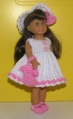 American Girl Mini Crochet Pattern - Sun dress. $3.25, via Etsy.