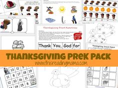 Thanksgiving Pre K Pack