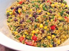 Quinoa Mexi-Lime salad This is the best quinoa salad I've ever had! Healthy Salads, Healthy Cooking, Healthy Eating, Cooking Recipes, Mexican Food Recipes, Vegetarian Recipes, Healthy Recipes, Roh Vegan, Little Lunch