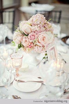 25 Romantic Short Table Wedding Reception Centerpiece |