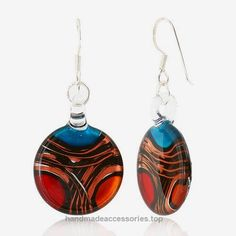 925 Sterling Silver Hand Blown Venetian Murano Glass Red Blue Yellow Gold Curve Dangle Earrings  Check It Out Now     $24.99    This beautiful Glass jewelry is 100% handmade by professional artisans. The vivid and unique colors would be a wonder ..  http://www.handmadeaccessories.top/2017/03/28/925-sterling-silver-hand-blown-venetian-murano-glass-red-blue-yellow-gold-curve-dangle-earrings/
