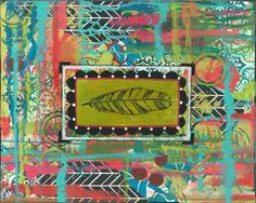 art de plume tribal gypsy Bohème art plume par MaddyGreyDesigns