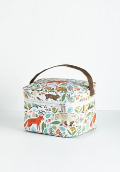 forest animals lunch bag