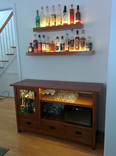 have flat screen TVs which look more attractive and can even be wall mounted the days of having a big bulky television or media cabinet are numbered - 27 Elegant Diy Bar Cabinet Concept Diy Bar, Canto Bar, Bar Sala, Home Bar Furniture, Furniture Ideas, Vintage Furniture, System Furniture, Bar Cart Decor, Home Bar Designs