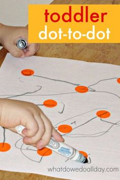 Easy toddler activity. Make your own dot to dot