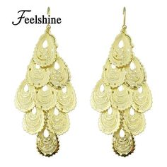5ad1ed2cb445 Gold Color Water Drop Chandelier Earrings – My Dash of Glam