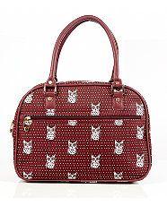 Burgundy (Red) Burgundy Owl Print Cabin Bag | 297091767 | New Look Perfect for romantic getaways! :) @New Look