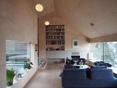 Compact House, Arch House, Cabin, Living Room, Architecture, Outdoor Decor, Furniture, Design, Home Decor