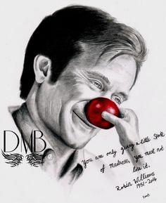 Só dão-lhe uma pequena centelha de loucura. Você não deve perdê-la // Robin Williams by DMBdrawings, an amazing artist