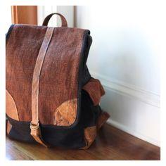 "Large Hemp ""No Kill"" Leather Backpack (Multiple Colors)"