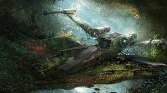 Znalezione obrazy dla zapytania yodas planet x wing