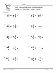 math worksheet : 1 worksheet with ision problems using whole numbers and  : Dividing Fractions Using Models Worksheet