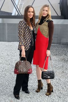 Alicia Vikander and Brit Marling in Louis Vuitton