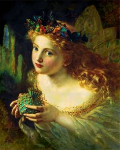 """1880, """"Take the Fair Face of Woman"""" - Sophie Anderson [French-British Pre-Raphaelite Painter, 1823-1903]"""