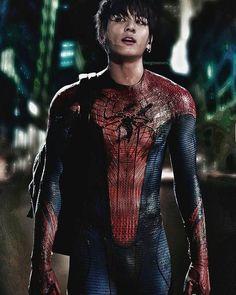 Bts Jeon jungkook as Spider-Man IM IN LOVEEEEEE