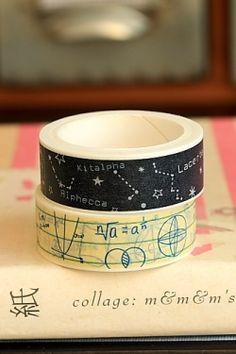 Photo1: SALE - Kawaii Masking Tape Set - I love science