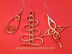 Shaved Wood Curls and BARC Wood Veneer Paper make lovely Classic and Contemporary Old World Themed Ornaments by gingerbread_snowflakes, via ...
