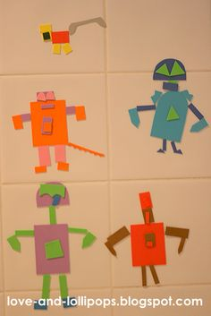 Craft foam sticks in the bath?  Cool!  And the better to build robots with (or critters, etc. etc.).