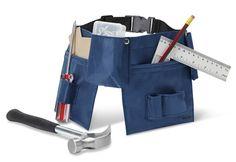 Snickarbälte med verktyg, från Micki