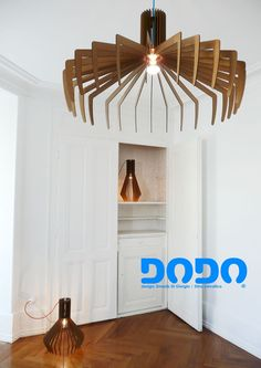 Dodo is a limited series lamp made of MDF laser cutted parts. Each lamp is conceived as a simple assembling system without tools aid. The structural system is made of 27 strips, wedged in two disks by hand pressure. Disks are designed to permit a standard light socket (with ring) installation. It has been thought in three different shapes in order to create several configurations and light effects. A colored fabric cord it's available in two colors (electric blue, orange).