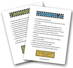 Printables:   10 Ways to Nurture Your Children  10 Ways to Show Your Husband You Love Him