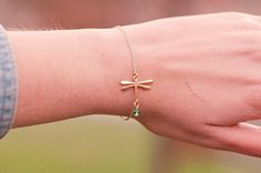 Hey, I found this really awesome Etsy listing at https://www.etsy.com/listing/205899824/delicate-dragonfly-bracelet-dainty