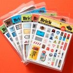 Reusable decals for LEGO bricks invented by an 11-year-old. Cool! $5.99