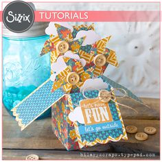 Sizzix Tutorial   Let's Have Fun Box Card by Hilary Kanwischer