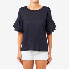 Shop now: Lace Bell Sleeve Top. Seed Heritage, Girly Outfits, Shop Now, Bell Sleeve Top, Women Wear, V Neck, Lace, Sleeves, Model