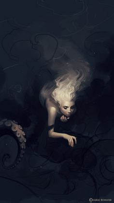 Funeral by Charlie Bowater. The hair and body give the feeling of movement through water
