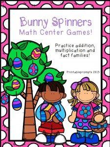 Bunny spinner math center! blog.printableprompts.com