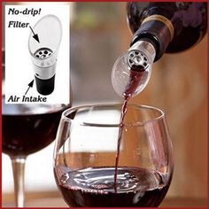 1-12x White Red Wine Aerator Pour Spout Bottle Stopper Decanter Pourer Aerating, Starting from $3.93 #WineAerator