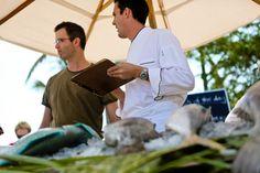 #Fish #Ritual: #Chef taking catch of the day orders (St. Regis Punta Mita Resort, Mexico)