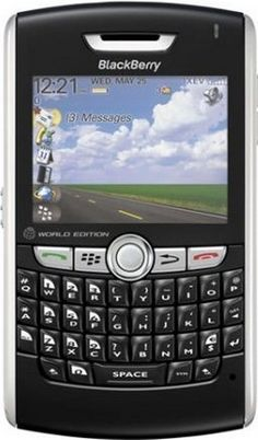 RIM BlackBerry 8830 Phone, Black (Sprint, CDMA) Unlocked for international (Non-USA) GSM Carriers - No Contract Required. QWERTY. PDA. - For Sale