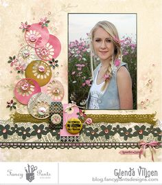 Fancy Pants Designs Studio #scrapbook #layout #girl-Love LO-MUST DO