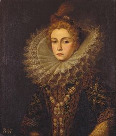 Portrait of a Lady | The costume is certainly Spanish in style and should probably be dated c. 1600, but such dress was also worn at courts in Italy and Flanders with close relations to Spain, such as Brussels, Genoa, Turin, Modena or Mantua.