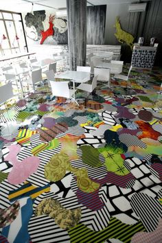 Busy floor.  Not exactly my taste, but definitely inspires some ideas!! :)