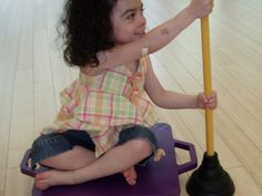 Scooter and Plungers - Re-pinned by @PediaStaff – Please Visit http://ht.ly/63sNt for all our pediatric therapy pins