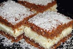 Jeftin, brz i sočan kolač s kokosom ! Vegan Sweets, Vegan Desserts, Just Cakes, Food Cakes, Cheesecakes, Cake Recipes, Vegetarian Recipes, Sweet Treats, Deserts