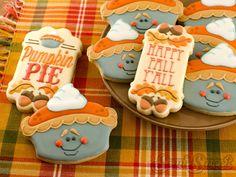 How to Make Pumpkin Pie Cookies by Semi Sweet Designs